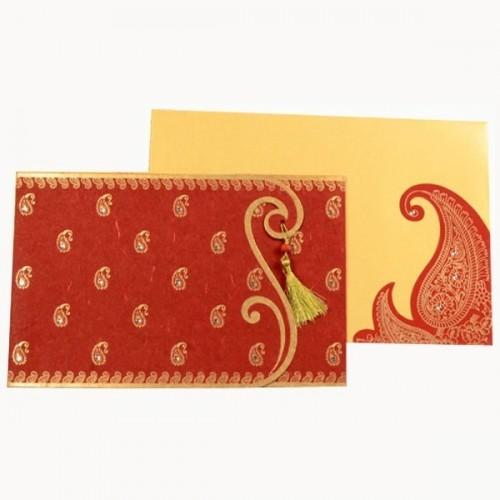 Kenza - Vue d'ensemble du faire-part et de son enveloppe