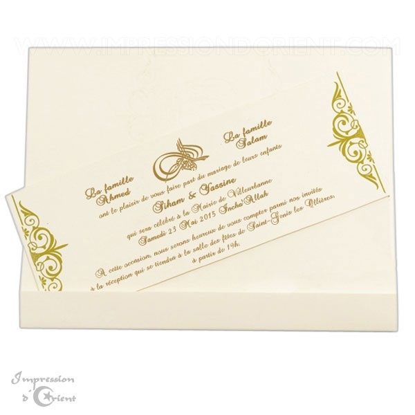 carte d invitation mariage orientale pas cher carte. Black Bedroom Furniture Sets. Home Design Ideas
