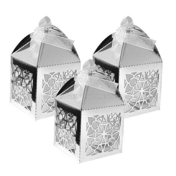lanterne argent boites drages orientale - Drages Mariage Pas Cher Oriental