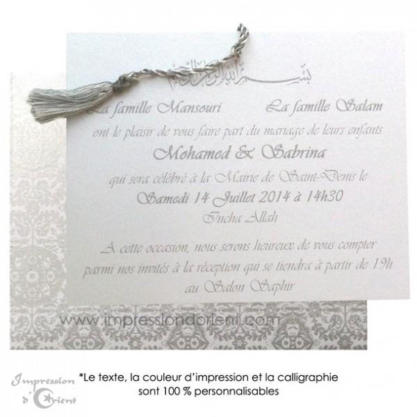 Texte Invitation Mariage Oriental