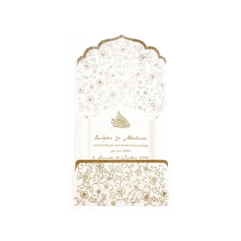 Ikram - Vue d'ensemble du faire-part et de son enveloppe
