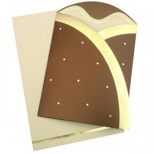Lina - Vue du faire-part fermé et de l'enveloppe (en arrière plan)