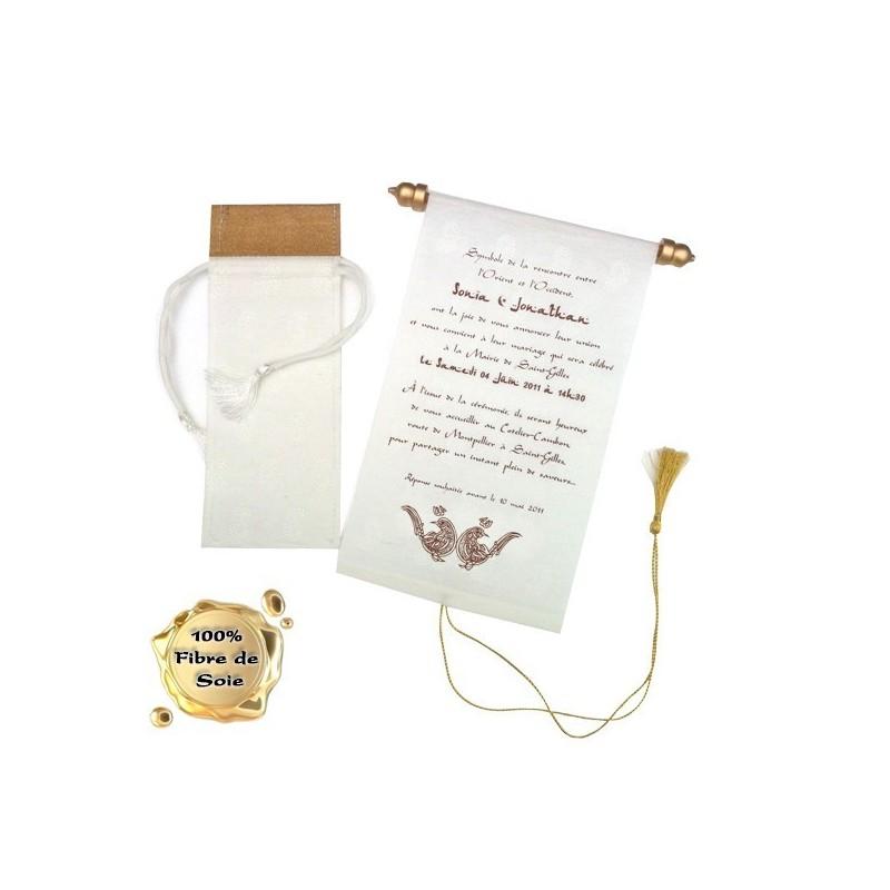 Ryad - Pochette + Parchemin + enveloppe tout en fibre de soie compris