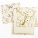 Faire-Part mariage - Ouverture originale avec pompon