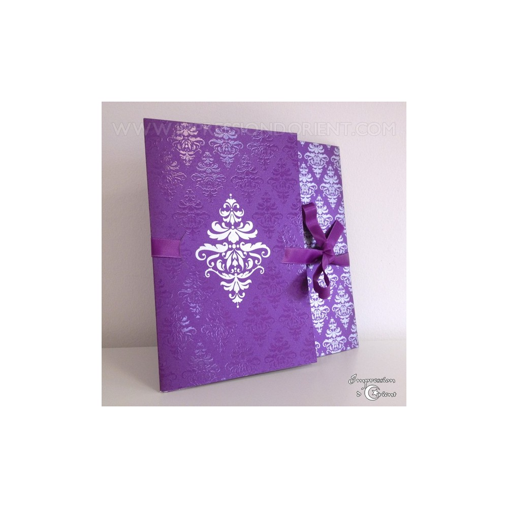 carte nora violet pour mariage ou naissance faire part oriental pas cher. Black Bedroom Furniture Sets. Home Design Ideas