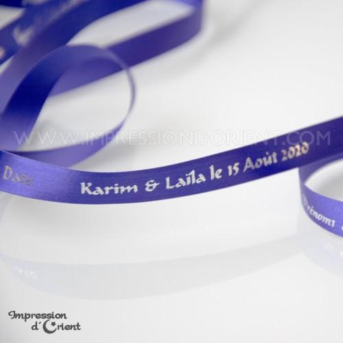Police : ALADIN - Ruban violet et argenté