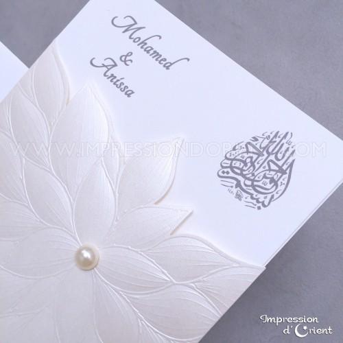Asma - Faire-part élégant avec perle