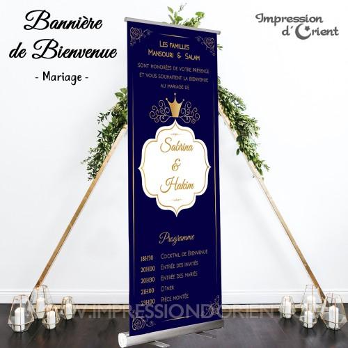 """Bannière de bienvenue """"Royal"""""""