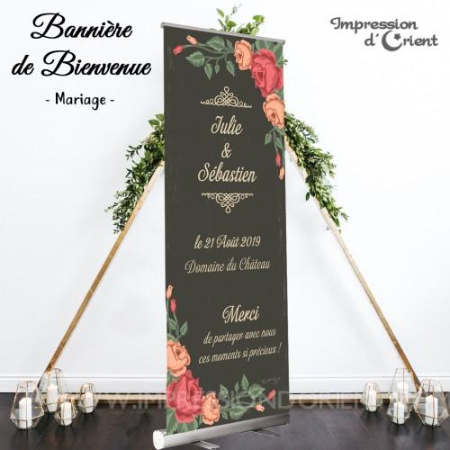 """Bannière de bienvenue """"Vintage Florale"""""""