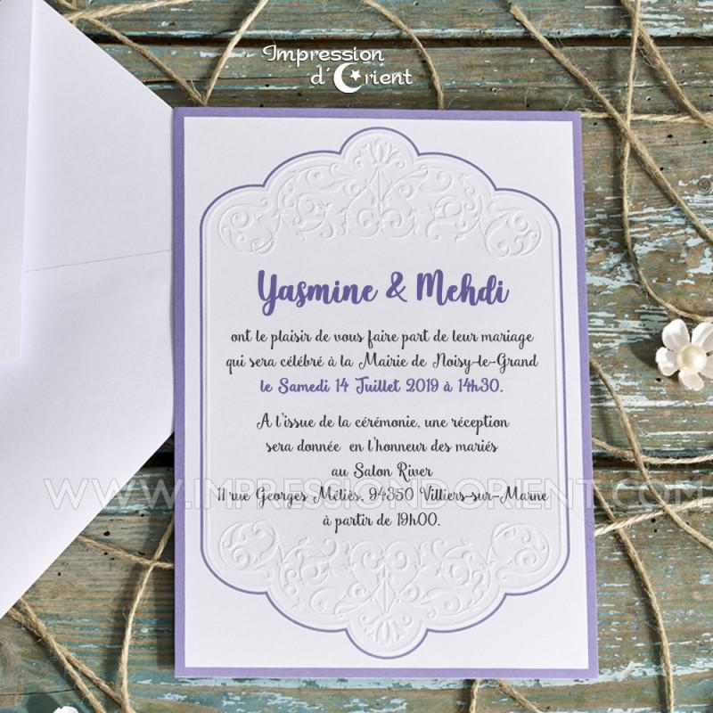 Yasmine Faire Part Oriental Chic Et Pas Cher Invitation Mariage