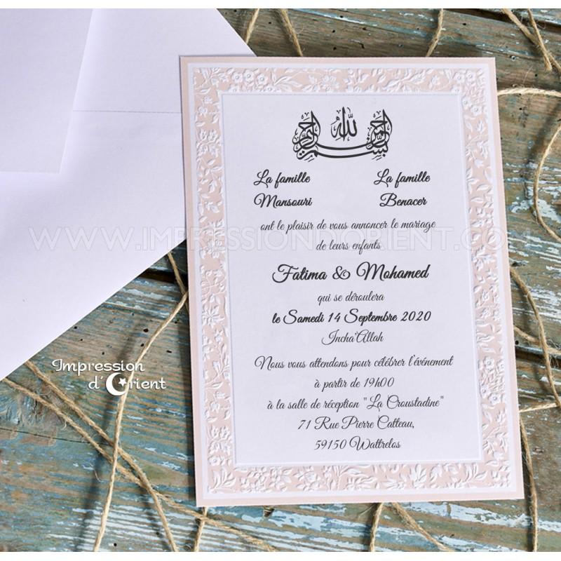 Amalya - invitaciones de boda rosa claro - Simple y refinado