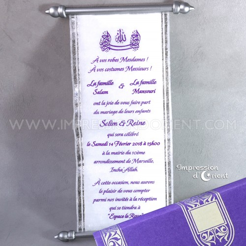 Dalil-Violet - parchemin mariage