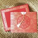 Faire-Part mariage - Rouge et or