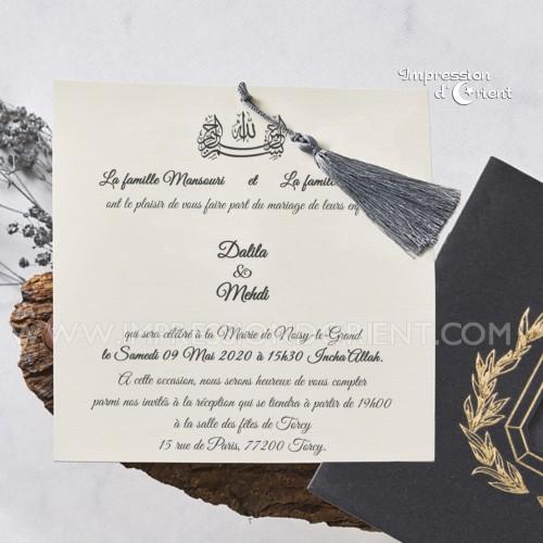 """Faire-Part mariage - """"Velours Gris"""""""