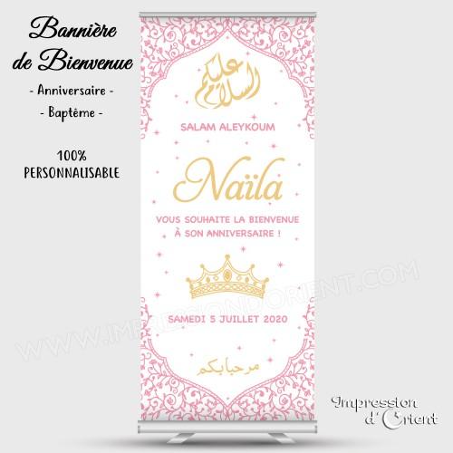 """Bannière de bienvenue """"Naïla"""""""