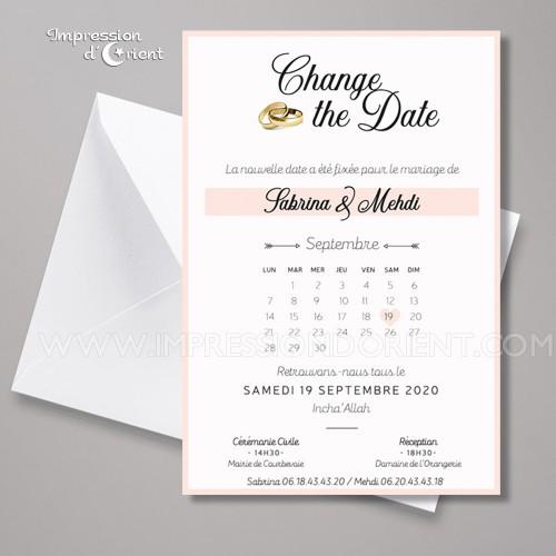 Change the date - Faire-part mariage reporté