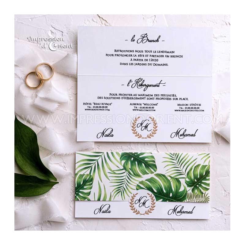 coupon Brunch mariage thème Tropical