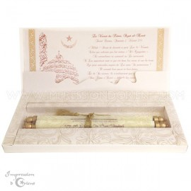 Faire-Part parchemin - Coffret prestige