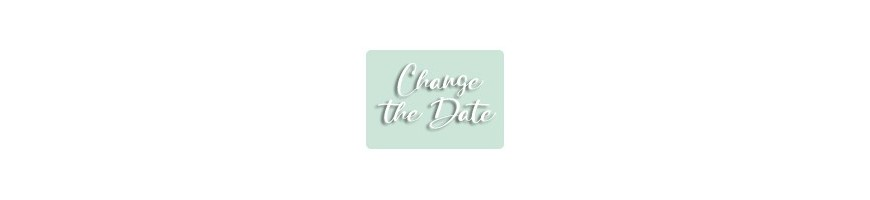 "Faire-part ""Change the date"" - Report mariage COVID"