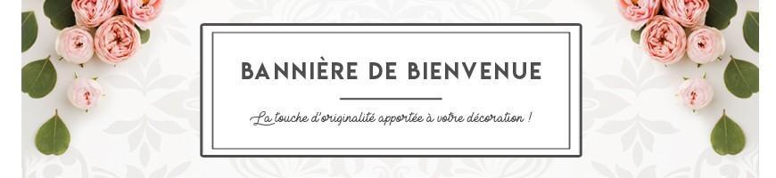 Banner de bienvenida personalizado e impreso para boda decoración