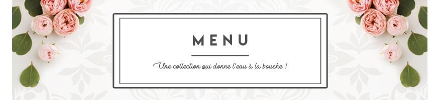 Wedding menu cheap, parchment menu for wedding - Impression d'Orient