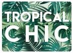 Faire-part tropical chic