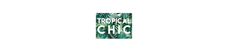 Faire-part mariage tropical chic