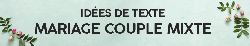 Texte invitation mariage couple mixte