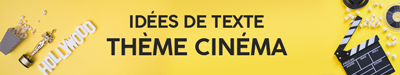 Texte invitation mariage thème cinema