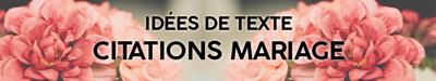 Texte invitation mariage citations, citation