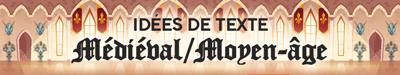 Texte invitation mariage thème médiéval, Moyen-age