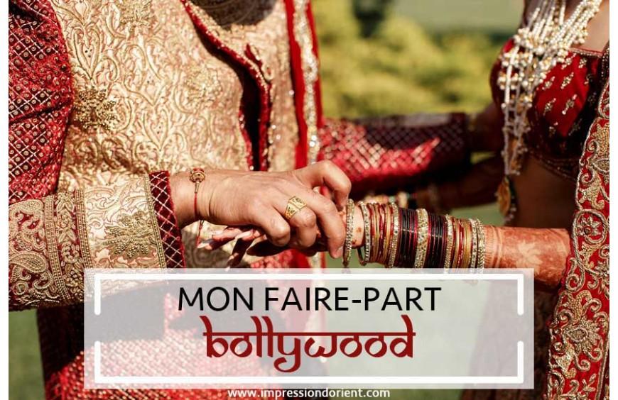Faire-Part de mariage sur le thème Bollywood